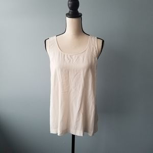 Madewell basic tank top with cute tie bow white L